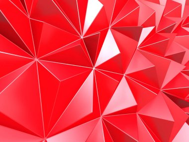 Purple red triangle polygons pattern