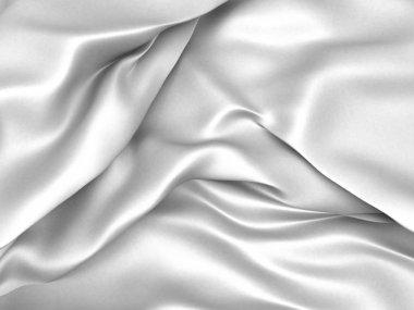 White satin silk texture