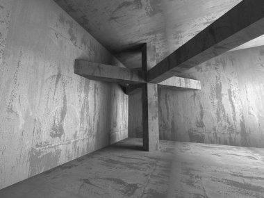 Dark basement with concrete walls
