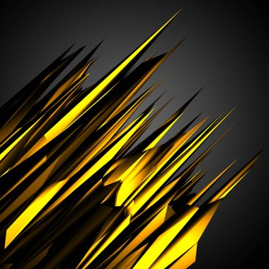 Gold black glossy low poly design