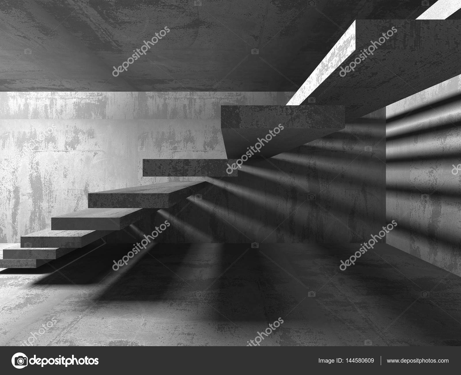 Resumen cuarto oscuro vacío — Fotos de Stock © VERSUSstudio #144580609