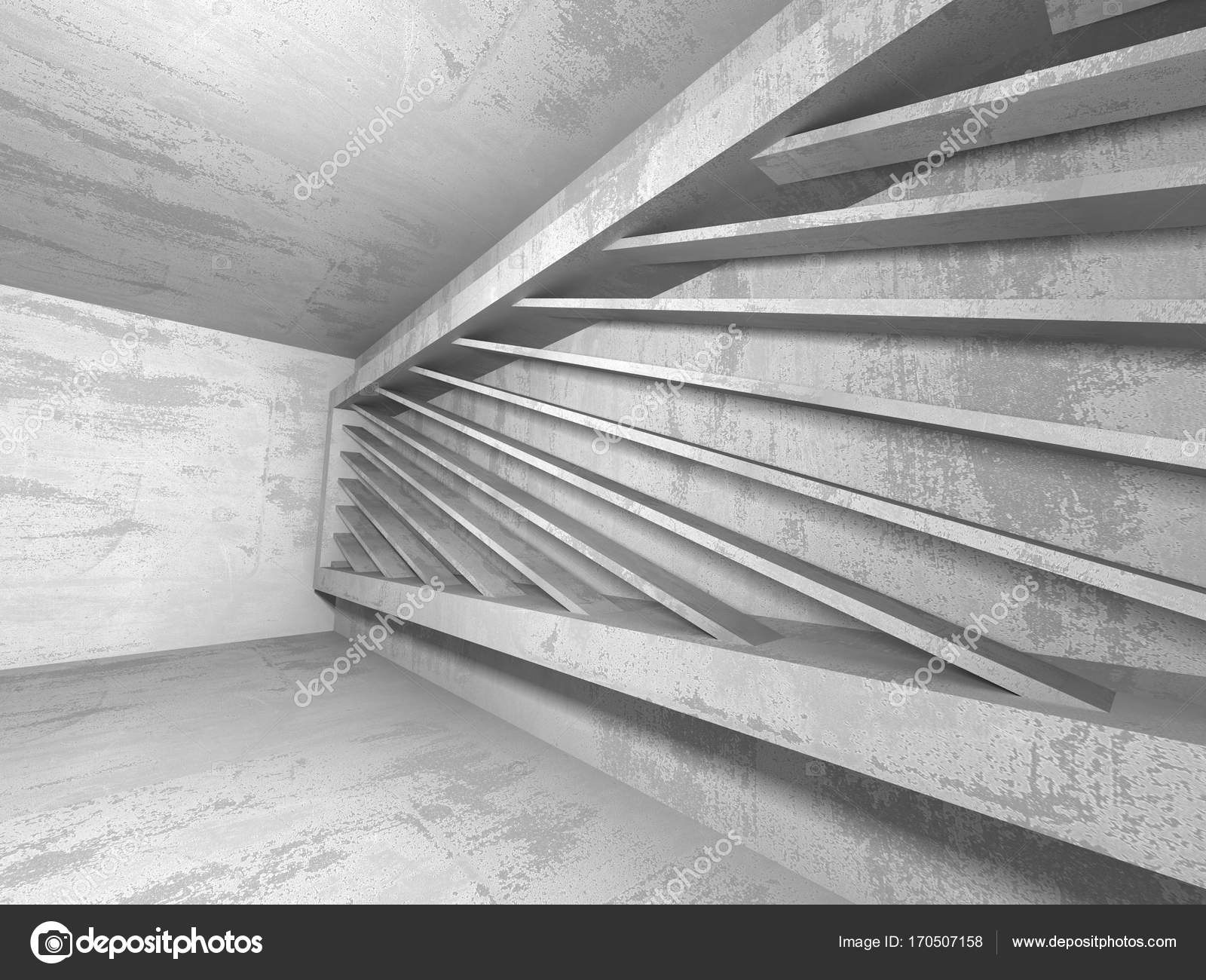 Dark basement empty room interior Stock Photo VERSUSstudio