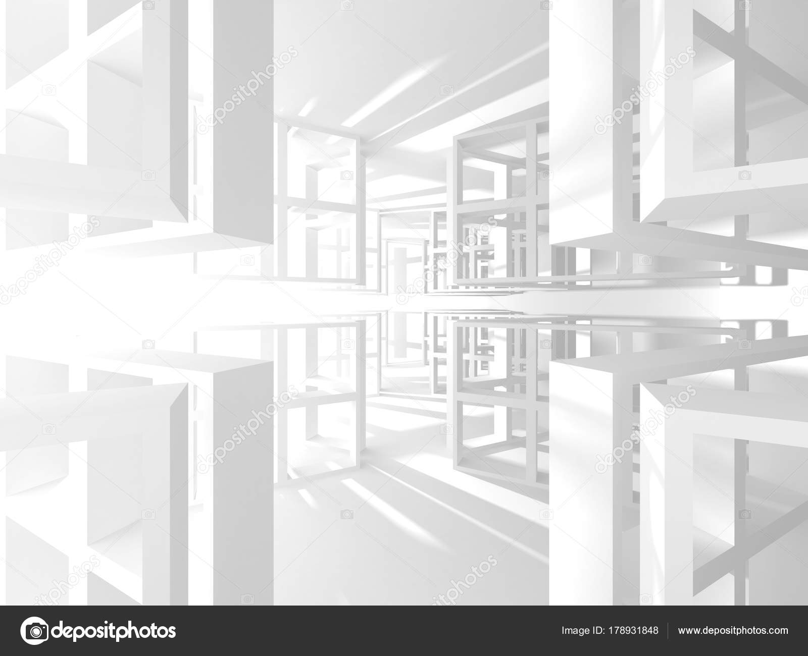 Abstract White Architecture Background — Stock Photo ...