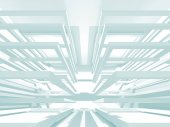Fotografie Abstract Modern White Architecture Background. 3d Render Illustration