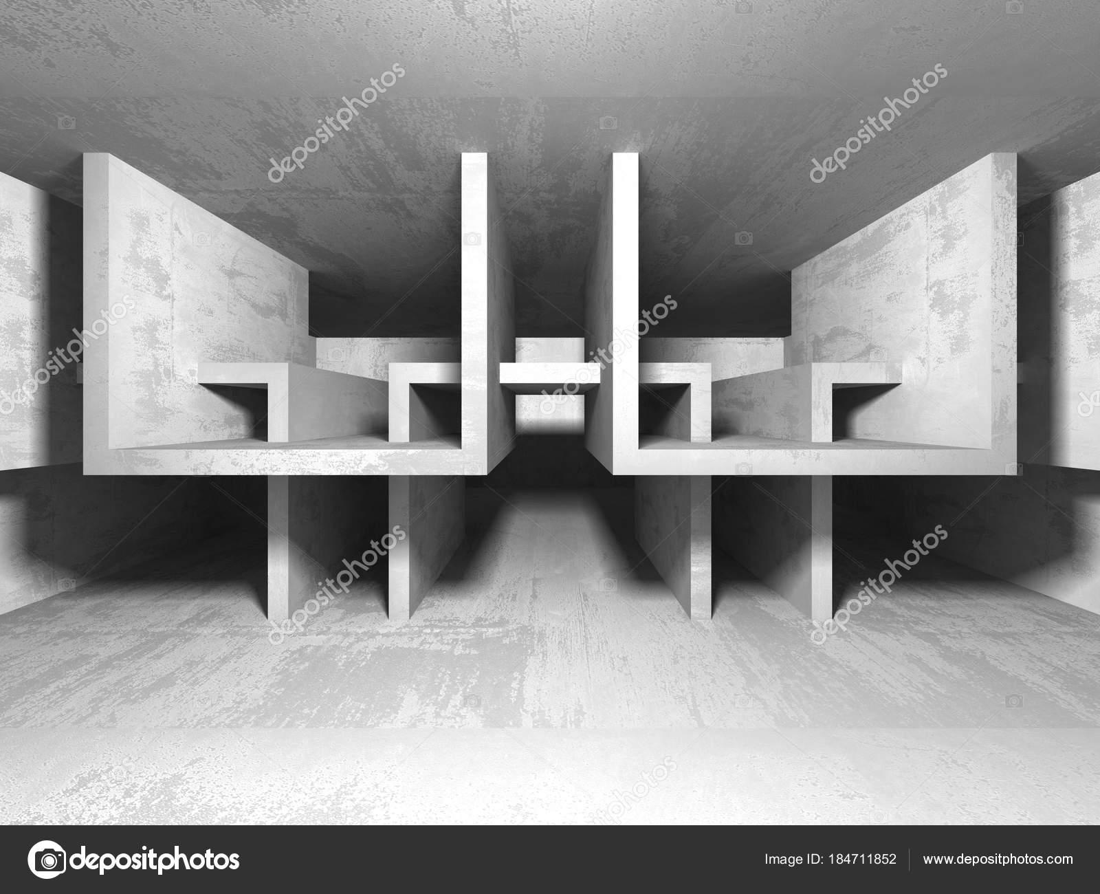 Sol En Beton Interieur intérieur sombre sous sol salle vide murs béton contexte