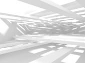abstrakte geometrische architektonische Hintergrund in weiß mit Schatten