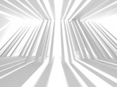 Abstract geometric architectural background in white with shadows