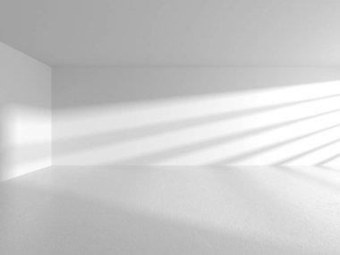 Futuristic White Architecture Design Background. Construction Concept. 3d Render Illustration stock vector