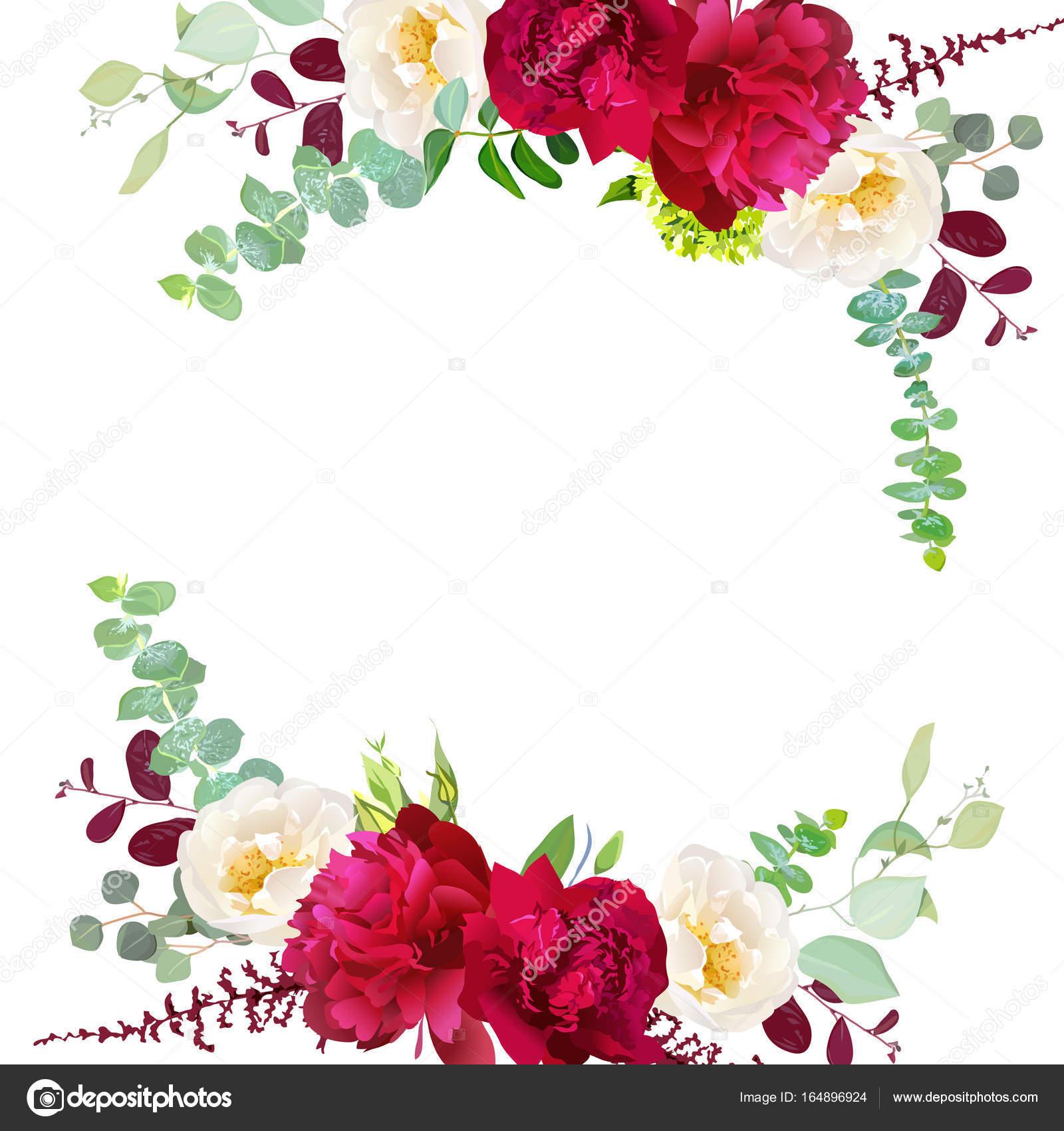 Otoño elegante ronda bouquet floral vector diseño marco — Archivo ...