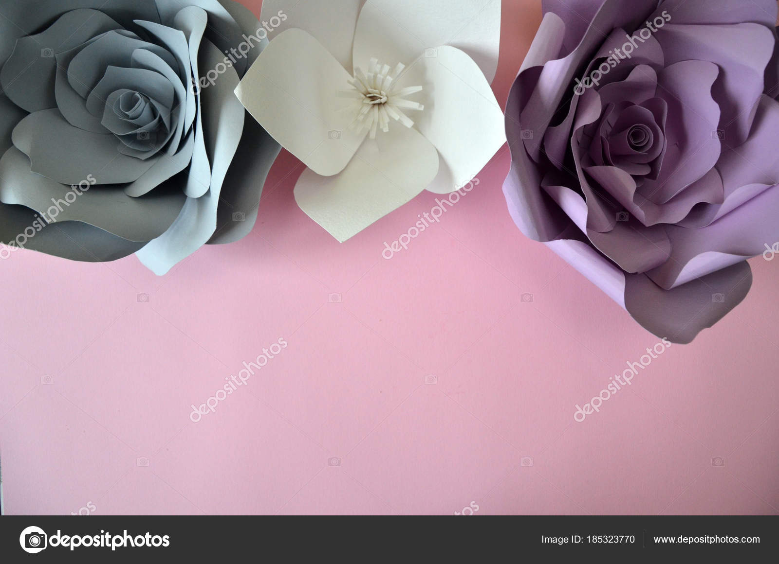 Pink And Gold Paper Flowers Backdrop Flowers Background Colourful