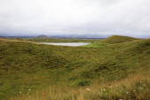 Myvatn / Island - 26. August 2017: Myvatn-See, Island, Europa