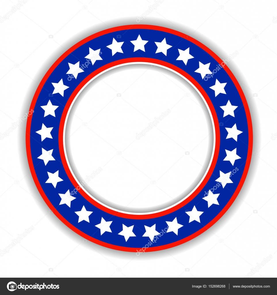 Amerikanische Flagge abstrakte runden Rahmen, Abzeichen, logo ...