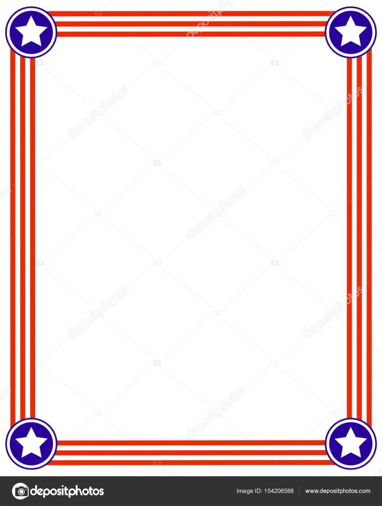 Patriotische Usa Flagge Bilderrahmen — Stockvektor © skef1964 #154206588