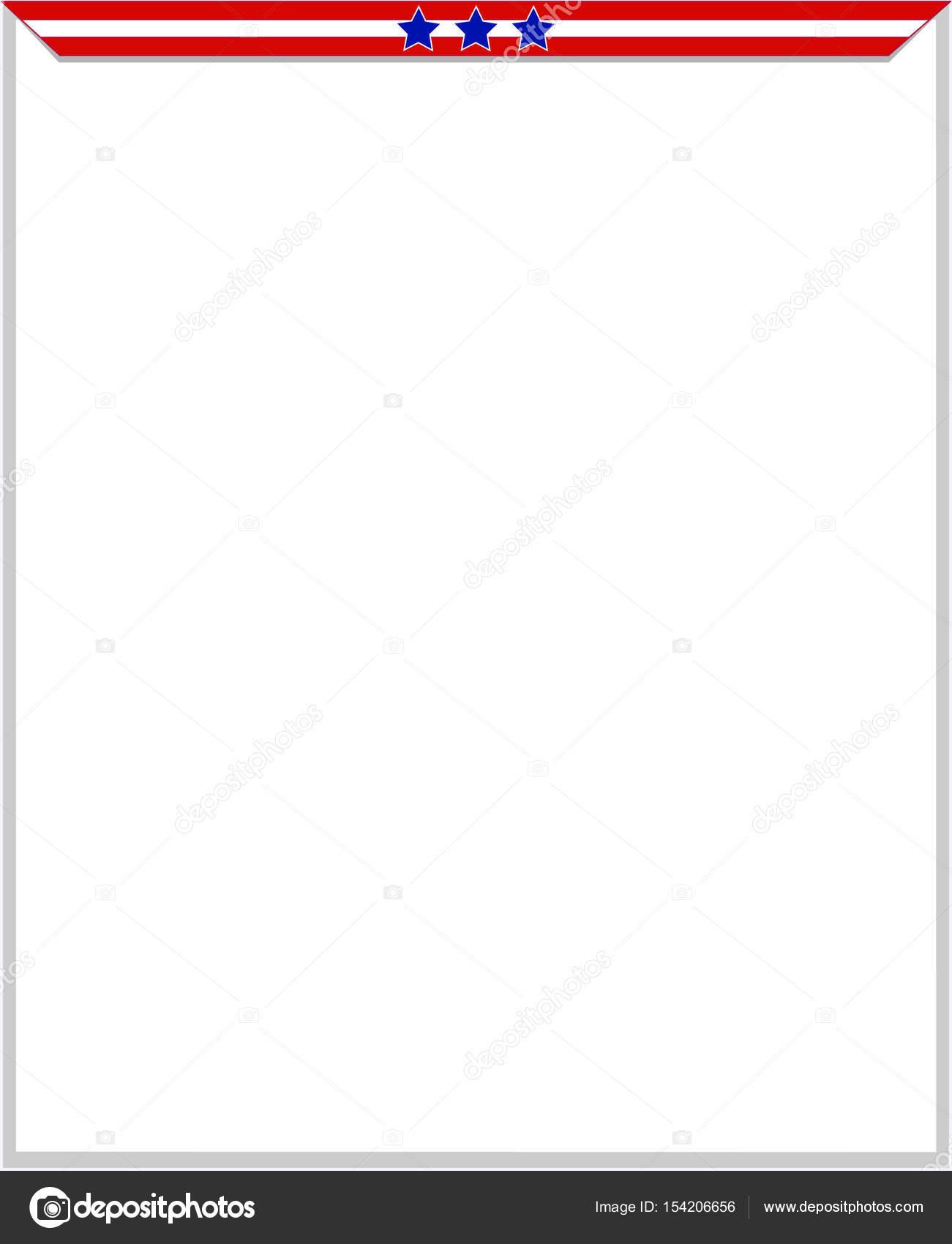 USA Flagge Rahmen mit Leerzeichen — Stockvektor © skef1964 #154206656