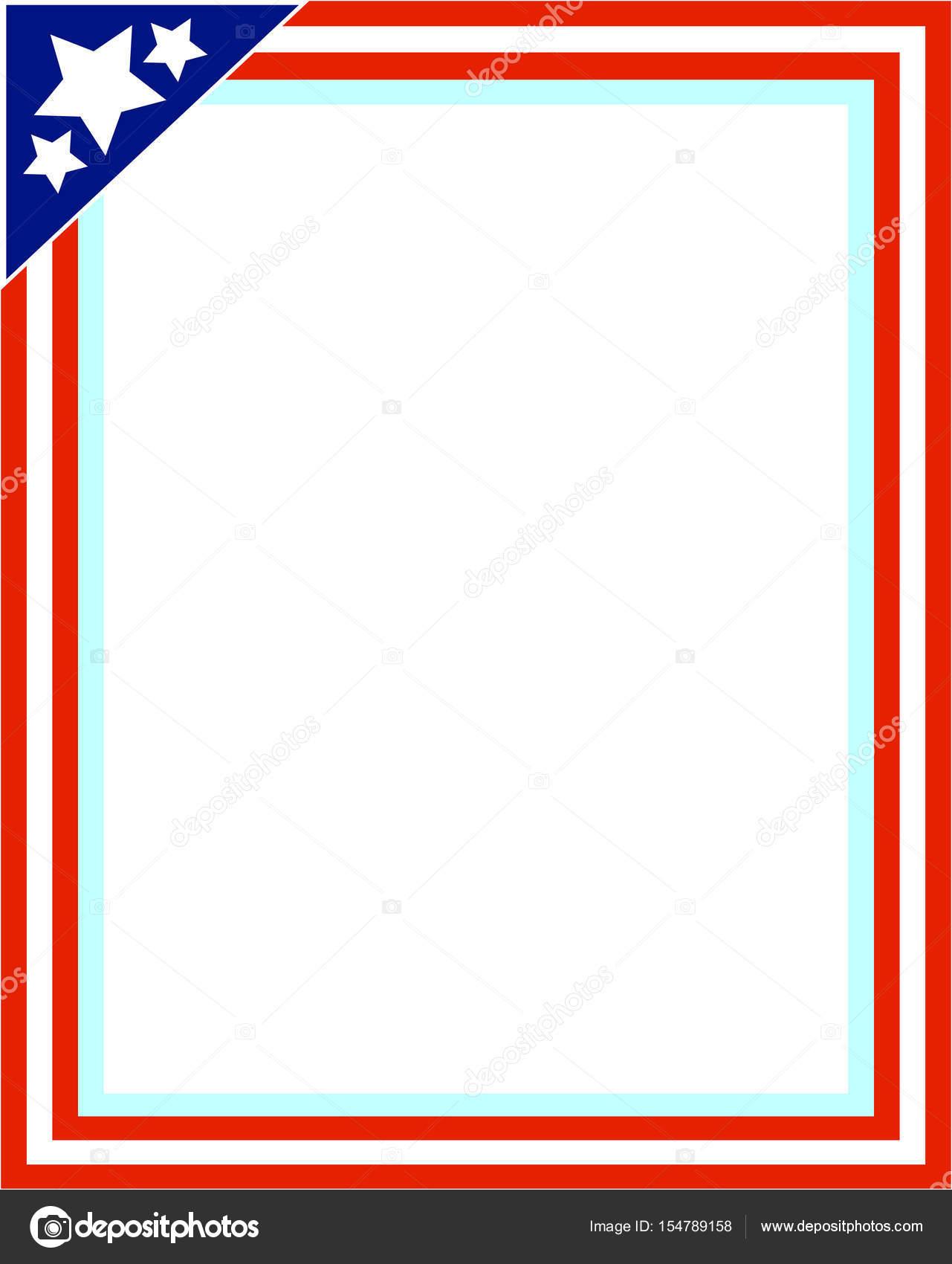 USA Flagge Bilderrahmen für Foto — Stockvektor © skef1964 #154789158