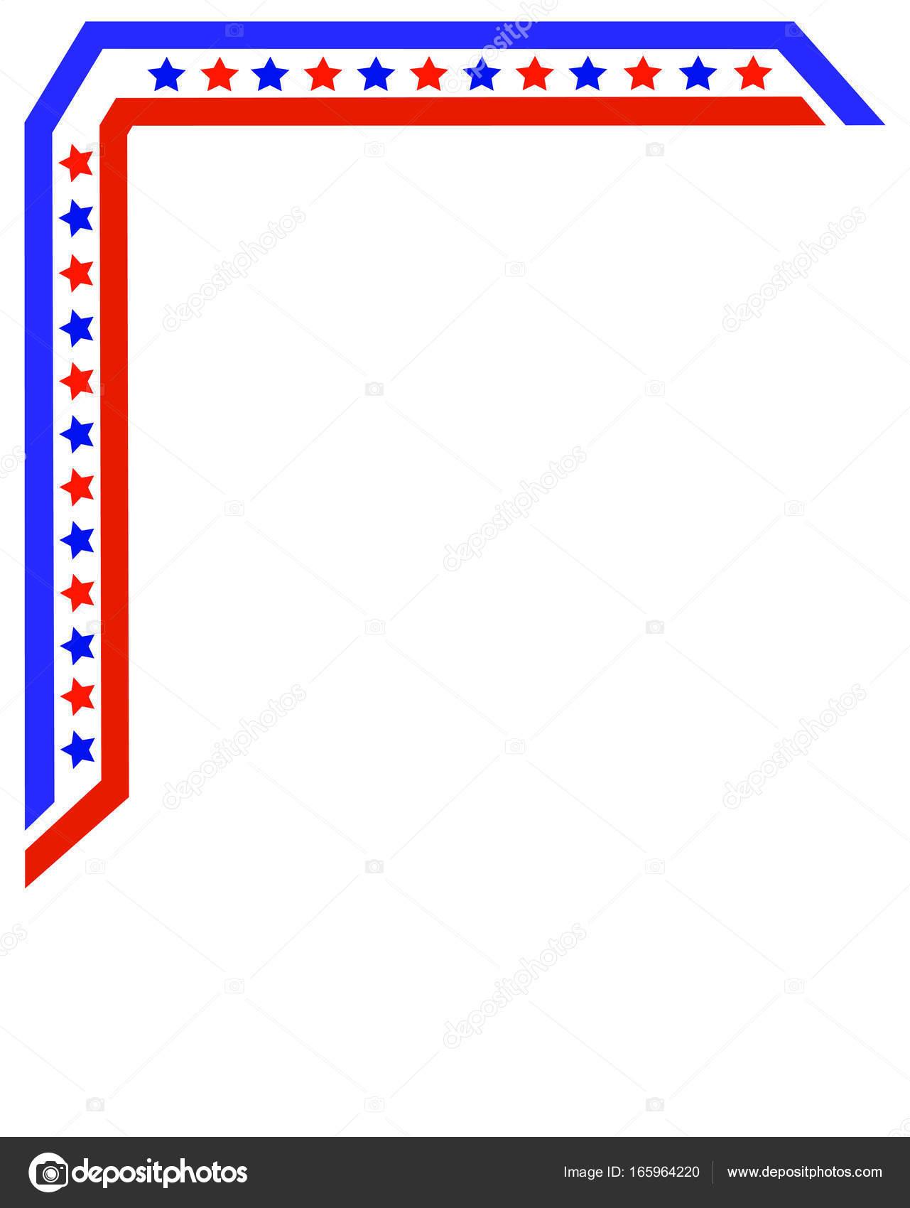 Bandera americana marco patrón de esquina para folletos, folleto ...