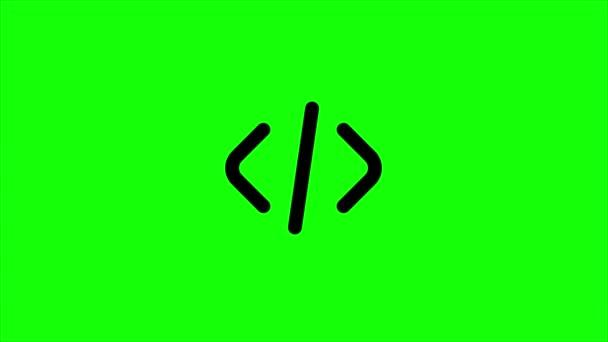 zelená obrazovka, webový prvek čistý, kódování