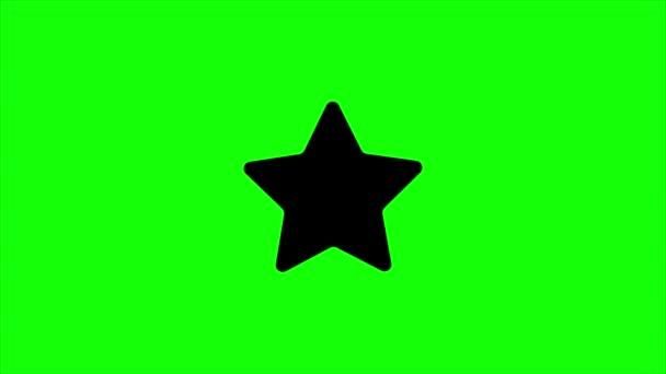 zelená obrazovka, webový prvek jasný, hvězda