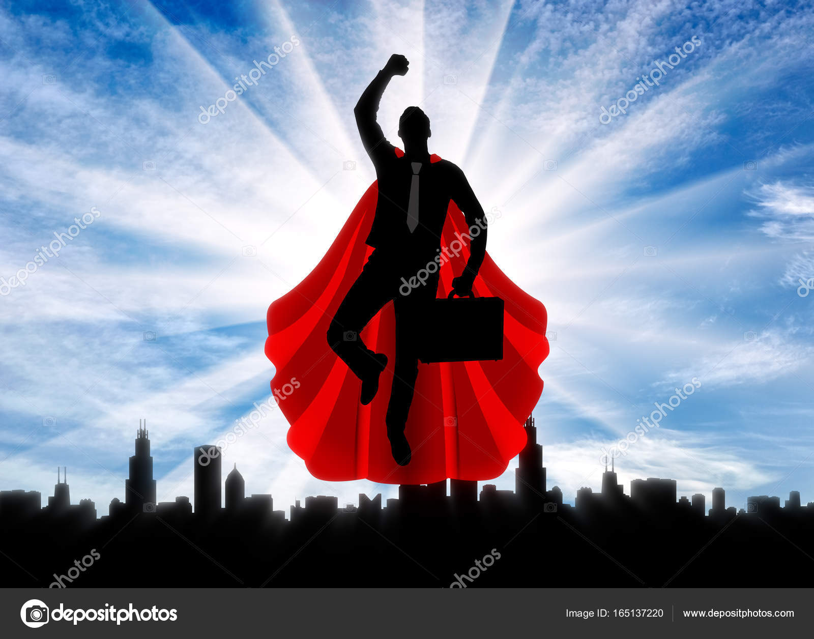 Superman businessman superhero stock photo prazisss 165137220 superman businessman superhero silhouette of a superman businessman with a briefcase flying in the sky over the city at dawn photo by prazisss publicscrutiny Images