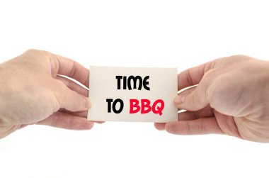 Time to bbq text concept