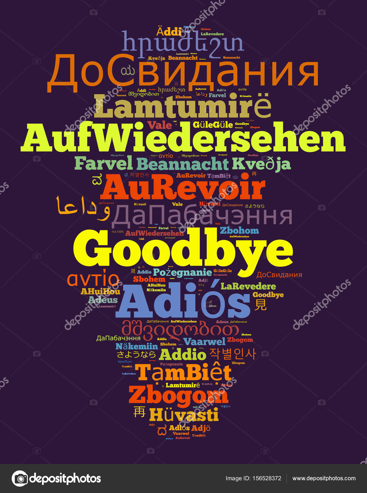 how to say bye in different languages