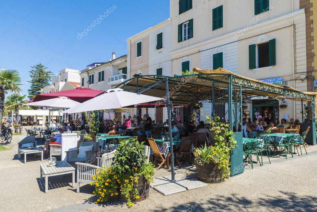 Restaurant Und Bar Terrassen In Alghero Sardinien Italien