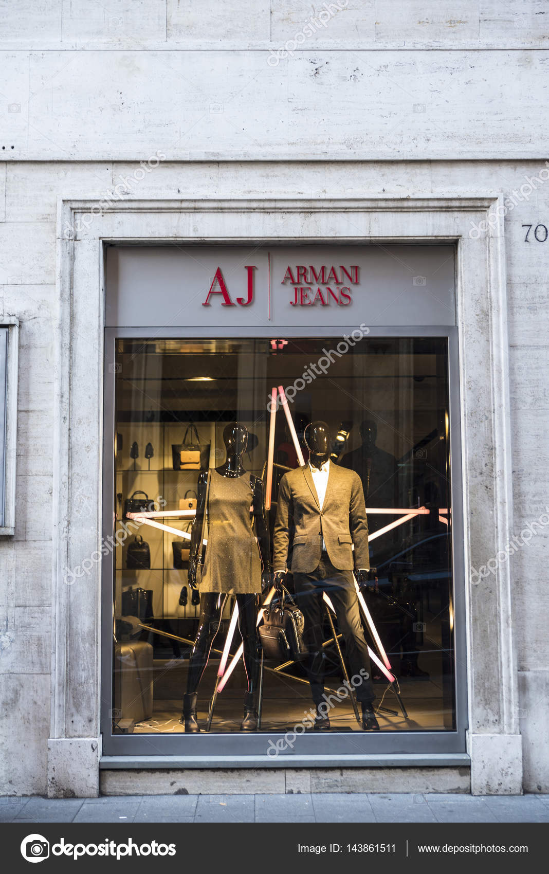 wholesale dealer 30ef6 95350 Armani Jeans shop in Rome, Italy – Stock Editorial Photo ...
