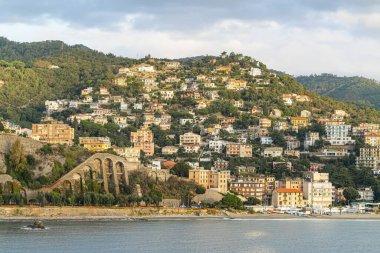 Seascape of coast Liguria, Albisola Superiore. Italy