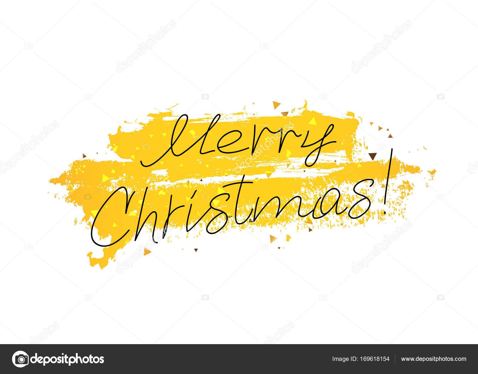 Frohe Weihnachten. Schrift und Kalligrafie — Stockvektor © chekat ...