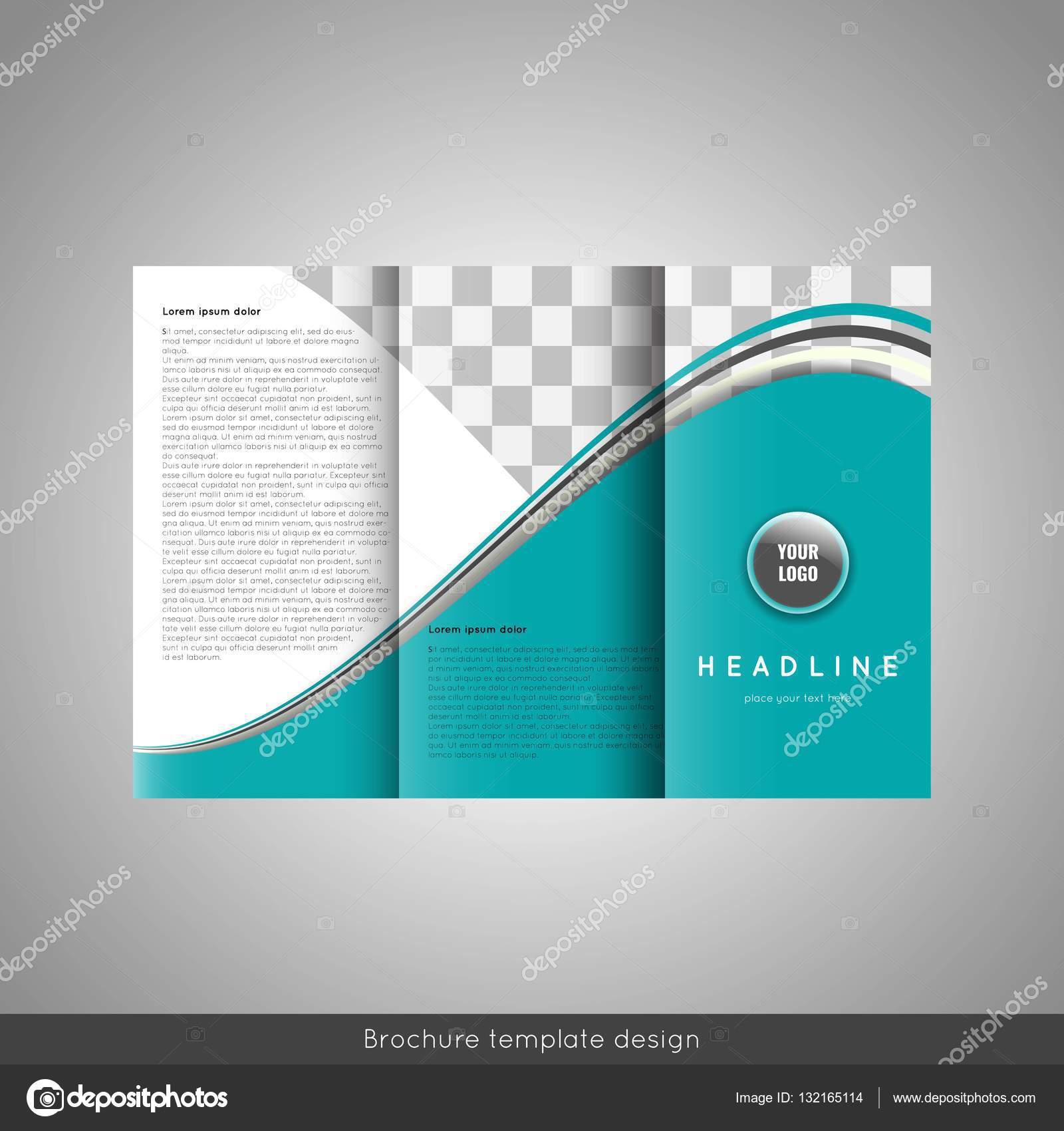 Negocio triple folleto plantilla de diseño. Fondo de líneas ...