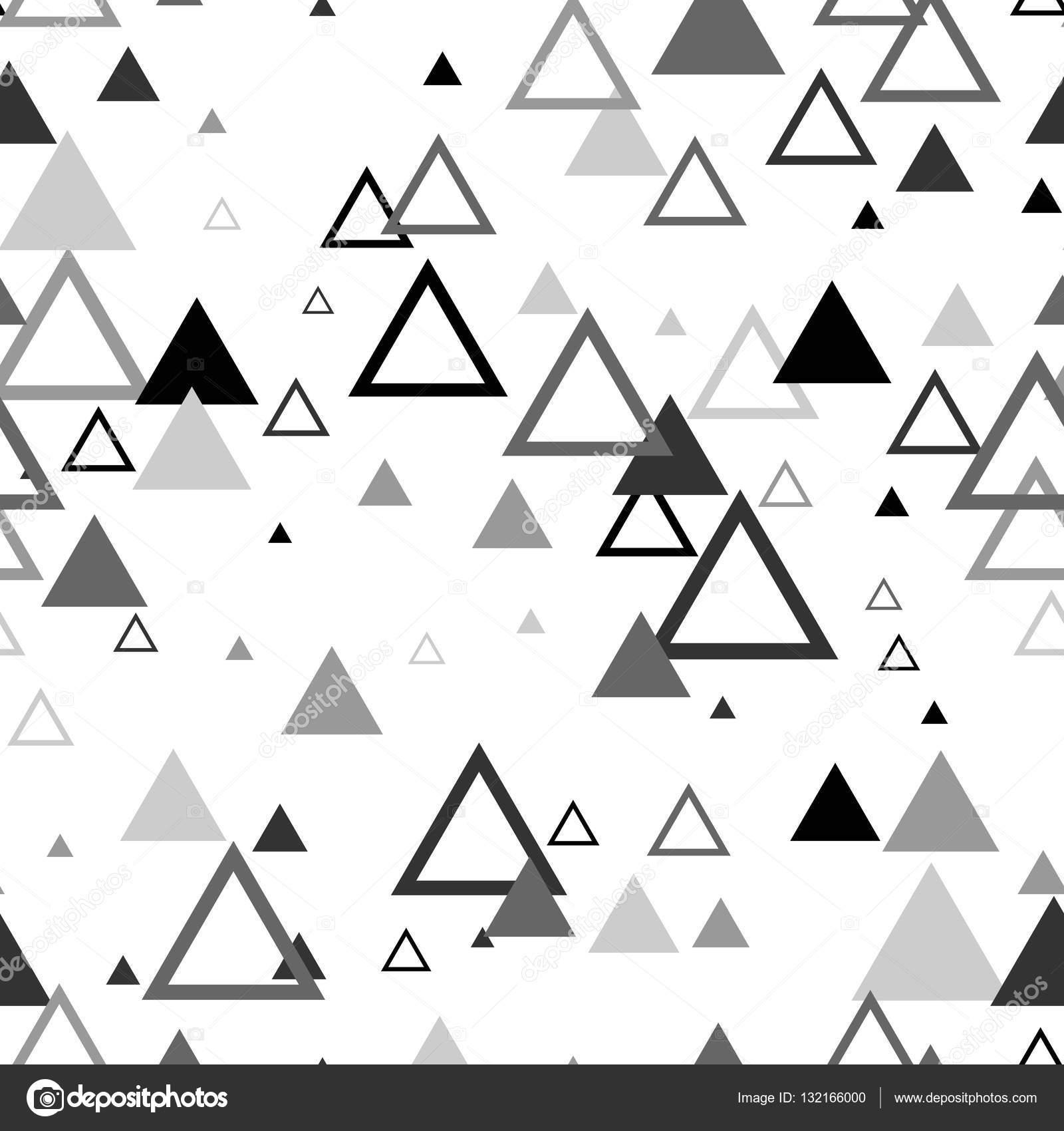 Modèle Scandinave Triangle Sans Soudure Fond De Textile