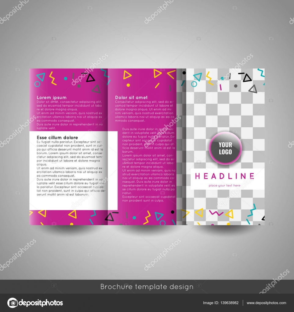 Corporate Tri Fold Business Brochure Template With Company Logo And