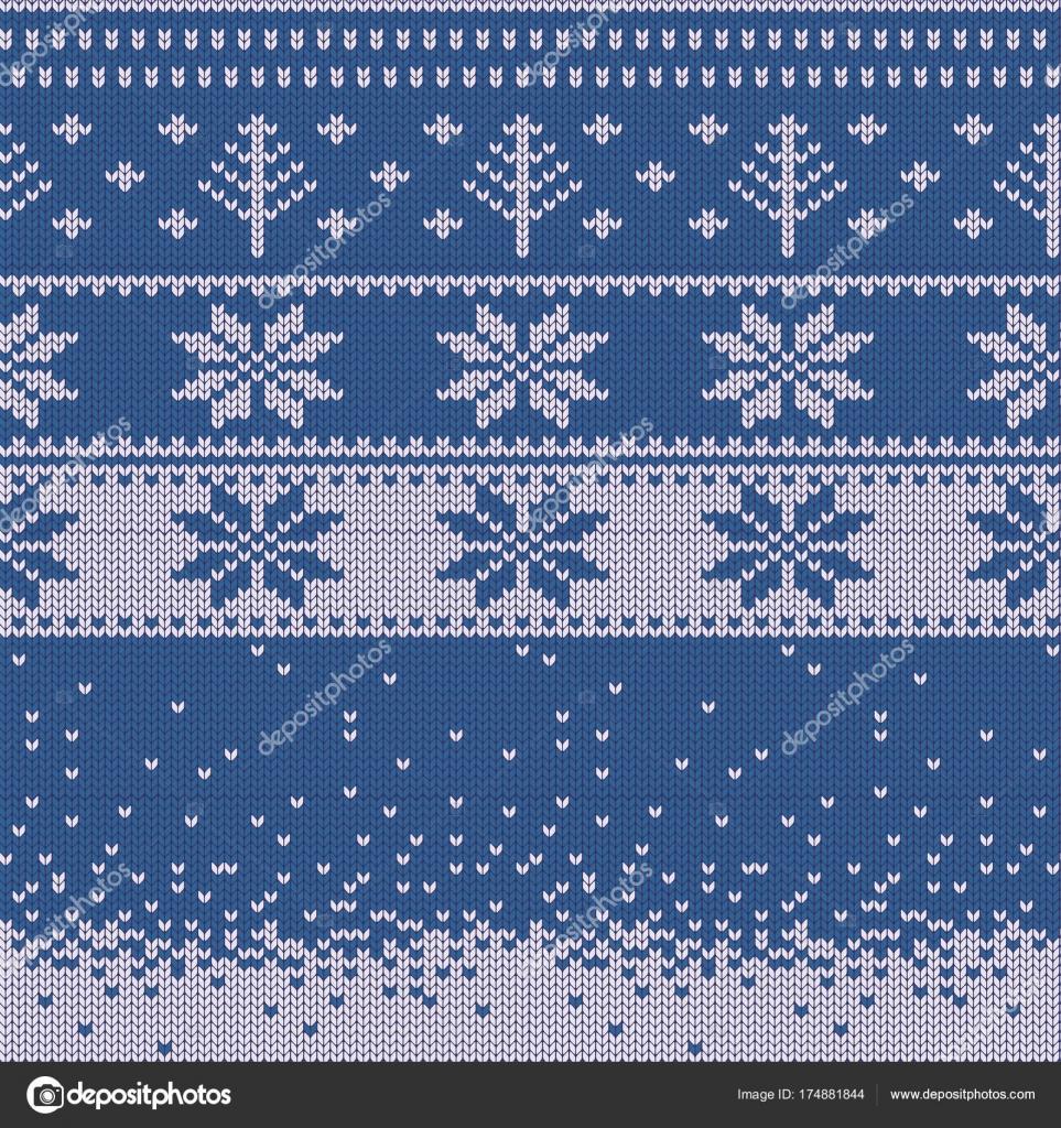 Gebreide Kersttrui.Gebreide Kerst Trui Patroon Met Herten Dennen Sneeuwvlokken