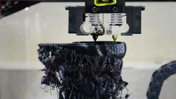 3D printer from hot plastic isolated object close-up