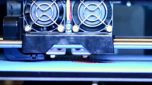 Modern 3D printer printing close-up