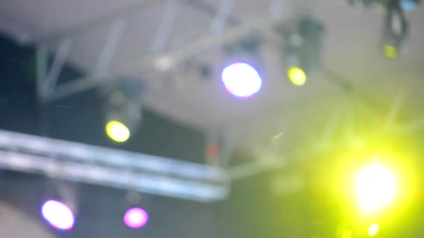 Work LED spotlights on stage