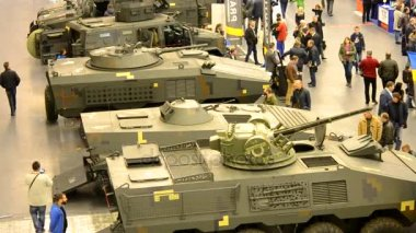 Military tanks and armored vehicles