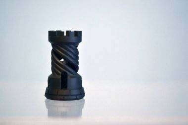 One object photopolymer printed on a 3d printer.