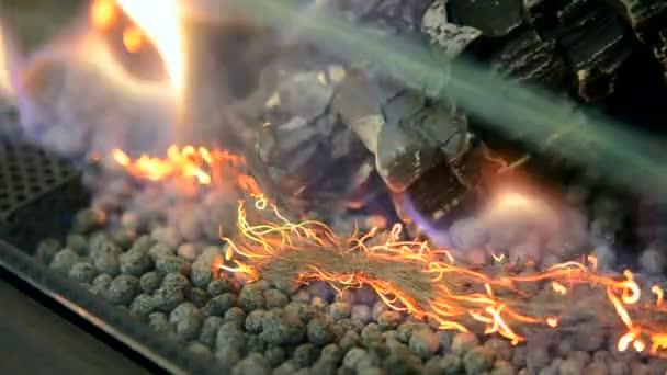 Moderní bio fireplot na etanol plynu detail