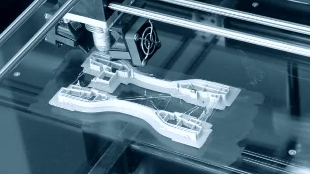 3D printer working. Fused deposition modeling, FDM. 3D printer printing