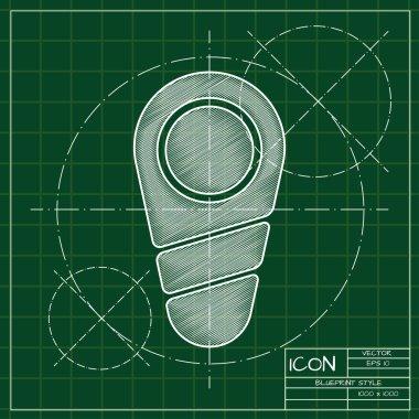 Blueprint of  newborn icon