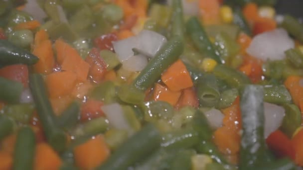 vegetables cooking in a frying pan close up slow motion footage for you ideas