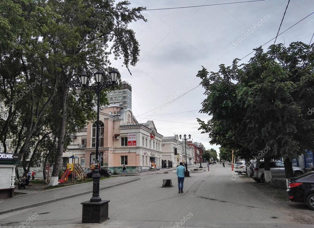 Perm, Russia, June 2017. The project is traveling in Russia. Walking street in Perm.
