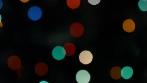 Vánoční světla rozostřené bokeh věnce kruh pozadí