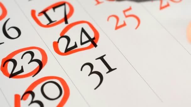 datum stránky kalendáře 31