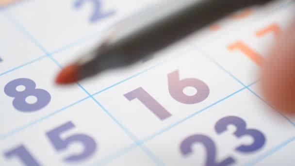 Personal Organizer calendar date signing