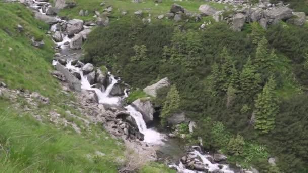 mountain rivers and waterfalls in transfagarasan carpathian mountainsm in romania