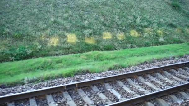 Vasúti pálya. Fényképezés a mozgalomban.