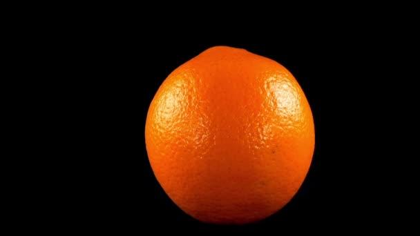 Oranges on a black background.