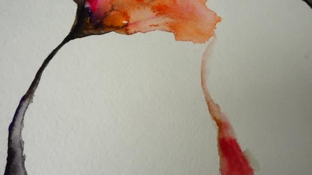 Kivonat virág formájában rajzolt egy akvarell.